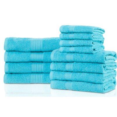 Patric 12 Piece Towel Set Color: Turquoise