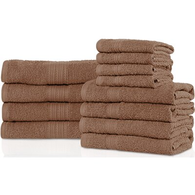 Patric 12 Piece Towel Set Color: Coffee
