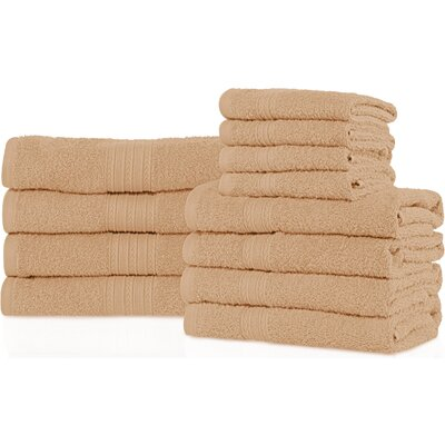 Patric 12 Piece Towel Set Color: Camel