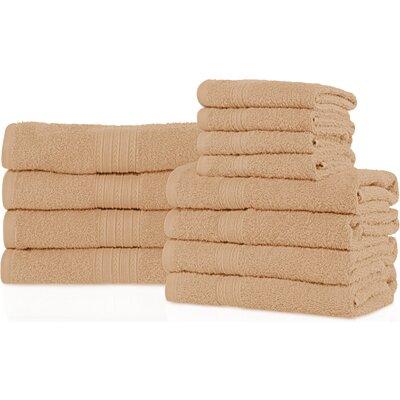 Tipton 12 Piece Towel Set Color: Camel