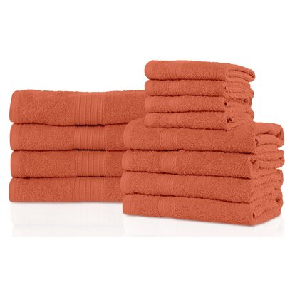 Patric 12 Piece Towel Set Color: Coral