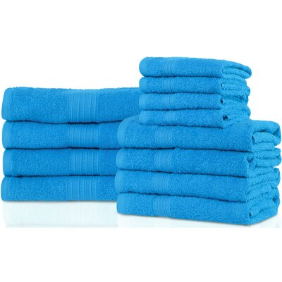 Patric 12 Piece Towel Set Color: Aster Blue