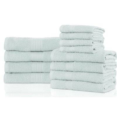Patric 12 Piece Towel Set Color: Aqua Marine