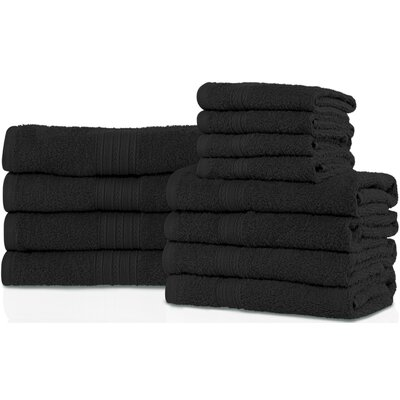 Patric 12 Piece Towel Set Color: Black