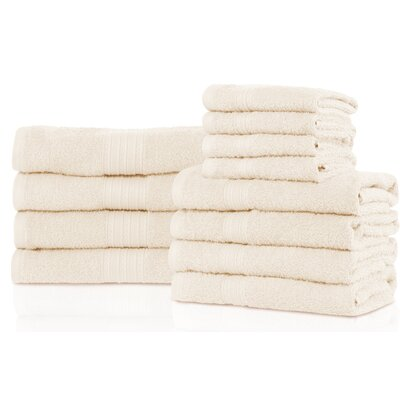 Patric 12 Piece Towel Set Color: Ivory