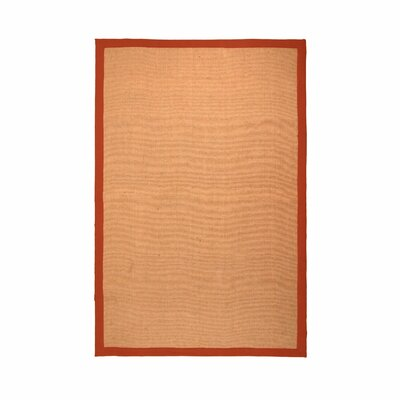 Makenna Hand-Woven Jute Rust Area Rug Rug Size: Rectangle 4 x 6