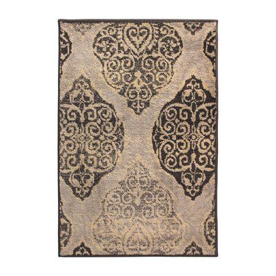 Sheila Rectangle Gray/Beige Area Rug Rug Size: Rectangle 27 x 8
