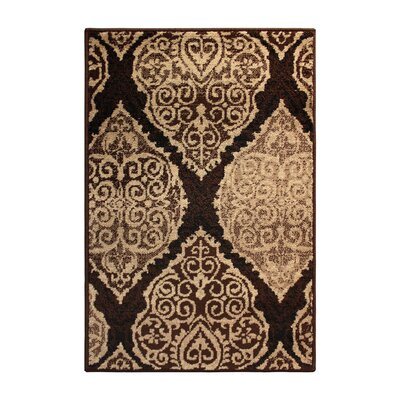 Sheila Rectangle Brown/Beige Area Rug Rug Size: Rectangle 710 x 910
