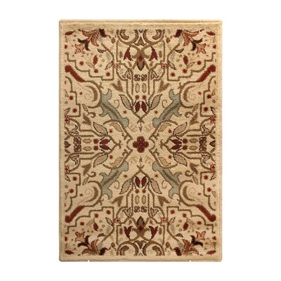 Mullins Cream/Red Area Rug Rug Size: 5 x 8