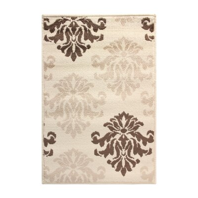Catalpa Cream/Brown Area Rug Rug Size: Rectangle 5 x 8