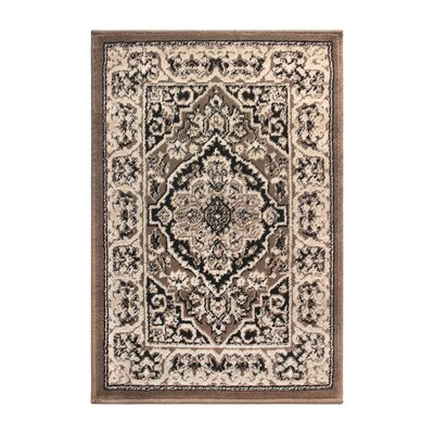 Vassar Brown/Beige Area Rug Rug Size: Rectangle 4 x 6