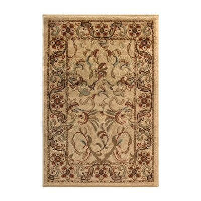 Avoca Ivory/Red Area Rug Rug Size: Rectangle 2 x 3