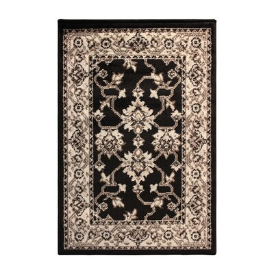 Cartensen Black/Beige Area Rug Rug Size: Rectangle 2 x 3