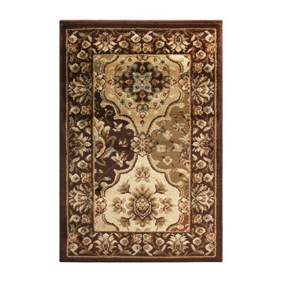 Battershell Brown/Beige Area Rug Rug Size: 5 x 8