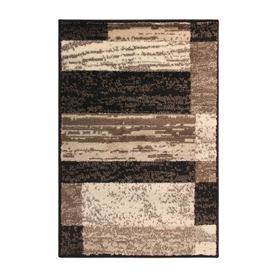 Alyce Chocolate/Black Area Rug Rug Size: 8 x 10