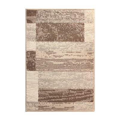 Powell Beige/Brown Area Rug Rug Size: 5 x 8