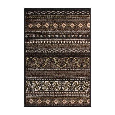 Mullins Black/Beige Area Rug Rug Size: 4 x 6