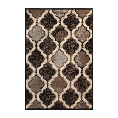 Cristal Brown/Gray Area Rug Rug Size: 8 x 10