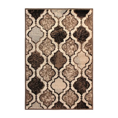 Lamoille Trellis Beige/Brown Area Rug Rug Size: Rectangle 2 x 3