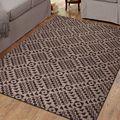 Marsh Diamond 100% Cotton Hand-Woven Beige Area Rug Rug Size: 5 x 8