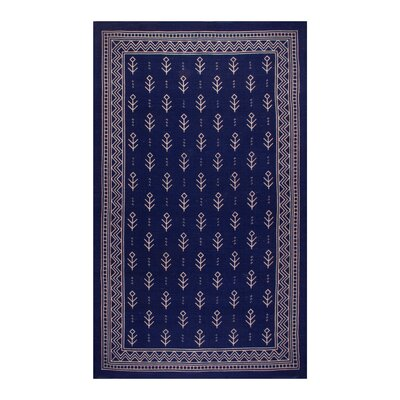 Azaria Royal Club 100% Cotton Hand-Woven Blue Area Rug Rug Size: 5 x 8