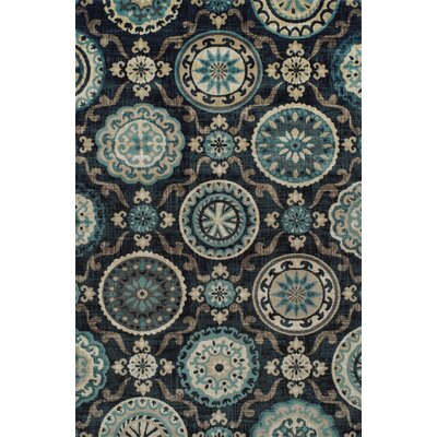 Raya Black Area Rug Rug Size: Rectangle 4 x 6