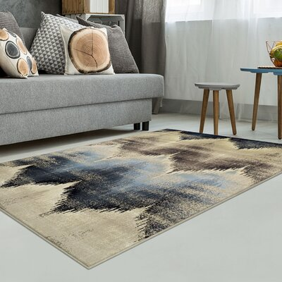 Abril Beige/Blue Area Rug Rug Size: Rectangle 8 x 10