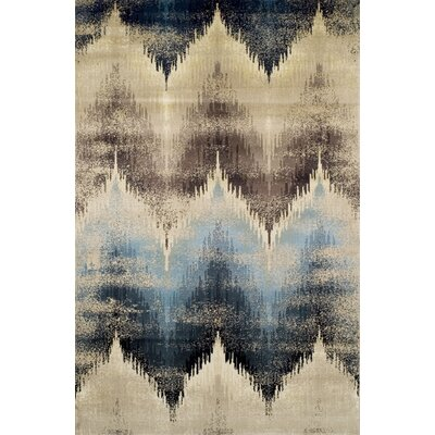 Ove Beige/Blue Area Rug Rug Size: 8 x 10