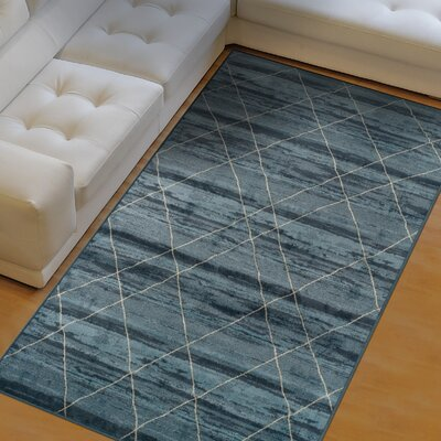 Heffernan Blue Area Rug Rug Size: 5 x 8