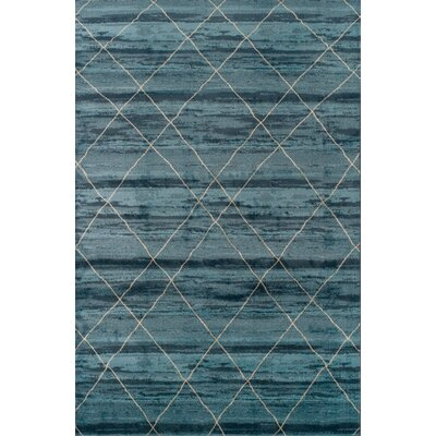 Janise Blue Area Rug Rug Size: Rectangle 5 x 8