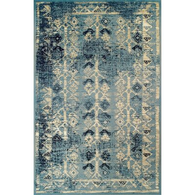Mya Blue/Cream Area Rug Rug Size: 4 x 6