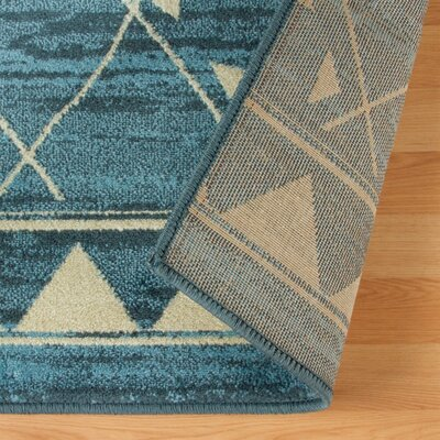 Briella Blue Area Rug Rug Size: Rectangle 5 x 8
