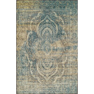 Kaetzel Beige/Blue Area Rug Rug Size: Rectangle 6 x 9