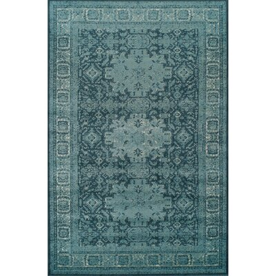 Schuttrange Teal Area Rug Rug Size: Rectangle 4 x 6