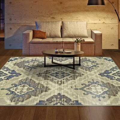 Raegan Beige Area Rug Rug Size: Rectangle 4 x 6