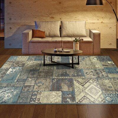 Ramona Beige/Blue Area Rug Rug Size: 5 x 8