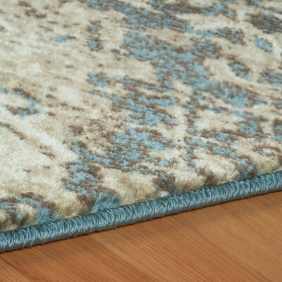 Ramona Beige/Blue Area Rug Rug Size: Rectangle 8' x 10'