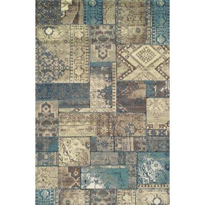 Ramona Beige/Blue Area Rug Rug Size: Rectangle 5 x 8