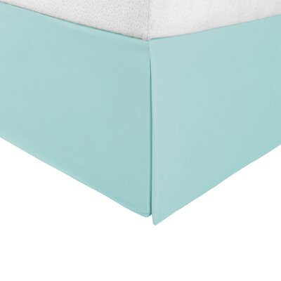 Bilbrey Infinity Bed Skirt Color: Aqua Marine, Size: King