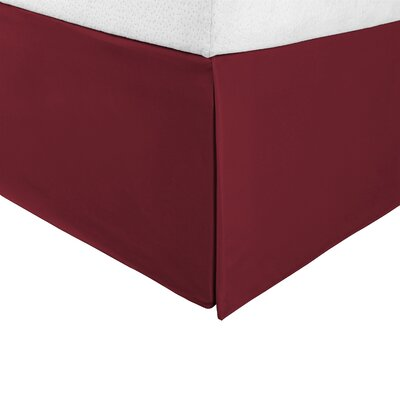 Bilbrey Infinity Bed Skirt Color: Burgundy, Size: Twin XL