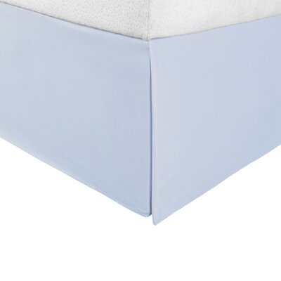 Bilbrey Infinity Bed Skirt Color: Light Blue, Size: Queen