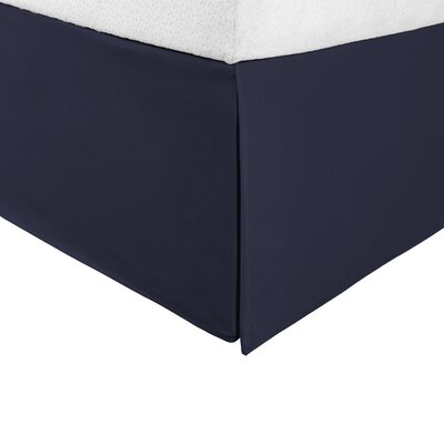 Tiemann Bed Skirt Size: King, Color: Navy Blue