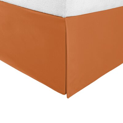 Bilbrey Infinity Bed Skirt Color: Pumpkin, Size: Twin XL