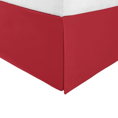 Tiemann Bed Skirt Size: King, Color: Red