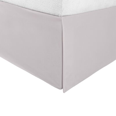 Bilbrey Infinity Bed Skirt Color: Silver, Size: King