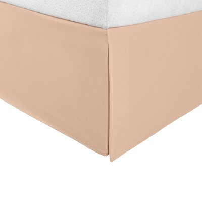 Bilbrey Infinity Bed Skirt Color: Tan, Size: Twin XL
