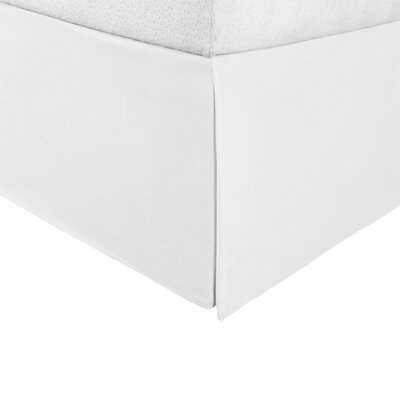 Tiemann Bed Skirt Size: King, Color: White