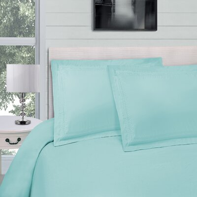 Bilbrey Infinity Embroidered 3 Piece Duvet Cover Set Color: Aqua Marine, Size: King/California King