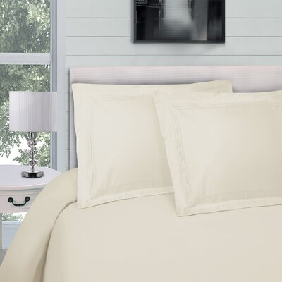 Bilbrey Infinity Embroidered 3 Piece Duvet Cover Set Color: Ivory, Size: Full/Queen