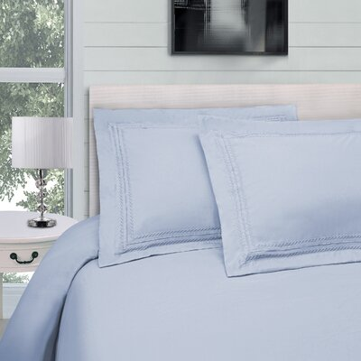 Bilbrey Infinity Embroidered 3 Piece Duvet Cover Set Color: Light Blue, Size: Twin/Twin XL